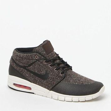 CREYONDI5 Nike SB Stefan Janoski Max Mid Brown Tweed Shoes