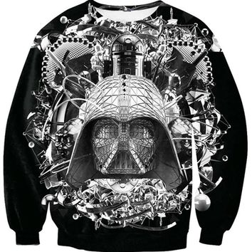 Fashion Hoodies Star Wars Crewneck Sweatshirt Darth Vader Sweats Spring Autumn Winter Jumper Pullover tops Women Men