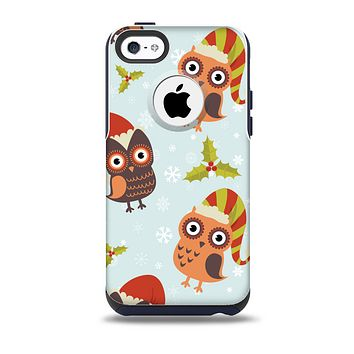 Orange Cartoon Winter Owls Skin for the iPhone 5c OtterBox Commuter Case