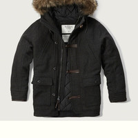 A&F Hooded Wool Parka