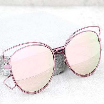 Perverse Syl Pink Mirrored Sunglasses