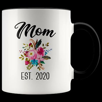 New Mom Mug Expecting Mommy to Be Gifts Baby Shower Gift Pregnancy Announcement Coffee Cup Mom Est 2020