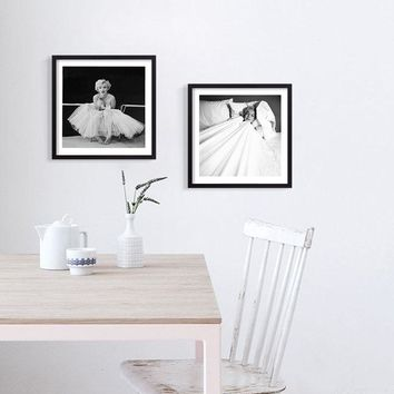 Marilyn Monroe Poster Wall Art Canvas Painting Posters Prints On The Wall Living Room Nordic Home Decoration Frameless Pictures