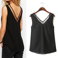 2016 women summer sexy tanks lace patchwork ropa mujer tops veste camisetas poleras female haut roupa femme camisole topjes