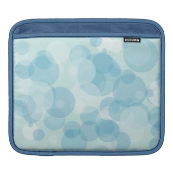 Blue Bubbles Sleeves For iPads