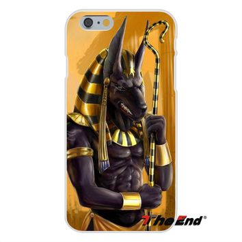 Egypt Anubis Egypt Egyptian Pattern For iPhone X 4 4S 5 5S 5C SE 6 6S 7 8 Plus Galaxy Grand Core Prime Alpha Slim Silicone Case