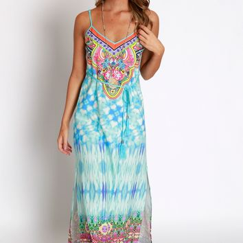 Mosaic Waters Maxi Dress
