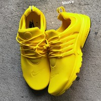 """NIKE""Air Presto Women Men Yellow Shoes Fashion Running Sport Casual Shoes Sneakers yellow white soles H-AA-SDDSL-KHZHXMKH"