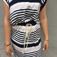 Navy Combo Comfy Dress