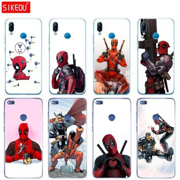 Silicone Cover Phone Case For Huawei P20 P7 P8 P9 P10 Lite Plus Pro 2017 P Smart Super Cool Marvel Deadpool