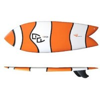 "5'4"" Clownfish Tri-fin Retro Fish Surfboard"
