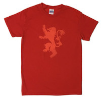 House Lannister Lion Sigil Game of Thrones Bleached T-shirt