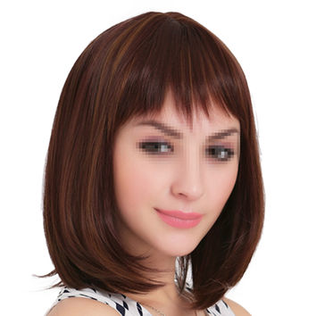 Fiber Cap Short Straight Hair Wig
