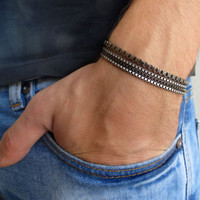 Men's Bracelet - Silver Chain Bracelets - Men's Jewelry - Jewelry For Men - Bracelets For Men - Gift for Him - Men's Gifts