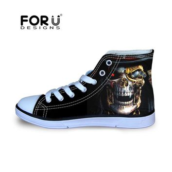 SHOES KIDS Skeleton Punk Printing Shoes Girls Boys Canvas Shoes 3136d172f0