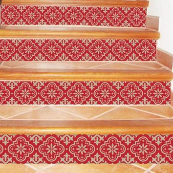 Pack of 12 stickers stairs riser decal removable kitchen borders wall borders bedroom borders project DIY - sku sr571