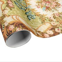 Baroque, tapestry look wrapping paper