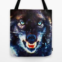 Wolf Wild Nature Animal Tote Bag by Maioriz Home