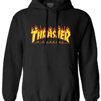 thrasher men long sleeve sweatshirt drake tracksuit trasher hoodies man 2017 autumn winter long sleeve hip hop brand clothing
