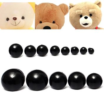 154pcs 6 to 24mm Children Kid Black Plastic Safety Eyes Washers Teddy Bear Doll Animal DIY Case Toys