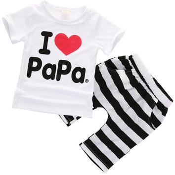 2016 Baby Boy Girls Newborn Clothes Casual Pajamas Set T-shirt Pants 2PC Outfits