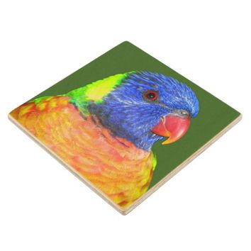 Rainbow Lorikeet Photo Wood Coaster