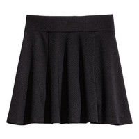 H&M - Jersey Skirt - Black - Kids