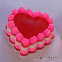 Pink Hearts Soap, Handmade Soap, Glycerin Soap, Heart Soap,valentines day soap, party favor,CHOOSE COLOR & SCENT, valentines soap, shower
