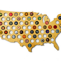 Beer Cap Map USA - US Beer Bottle Cap Map Craft Beer Map Cap Map Bottle Cap Craft Beer Gift