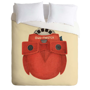 Terry Fan Owl Master Duvet Cover