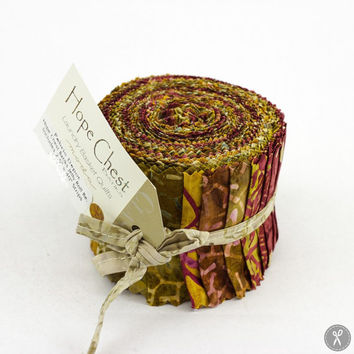 Hope Chest Batiks Junior Jelly Roll in Reds