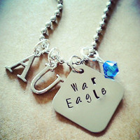 "Hand Stamped "" War Eagle"" Necklace"