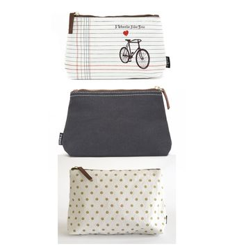 Bundle of 3 Pouches: Wheelie Chic
