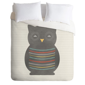 Allyson Johnson Native Owl 2 Duvet Cover