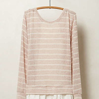 Anthropologie - Ruffled Hem Pullover