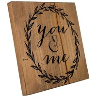 You & Me Wood Sign with Easel | Hobby Lobby