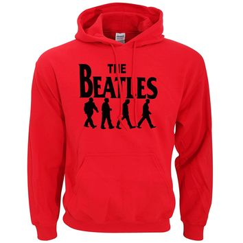 hip hop streetwear Rock Band The Beatles print hoodie 2017 spring winter hot sale hoodies men fleece loose fit men sweatshirts