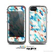 The Modern Abstract Blue Tiled Skin for the Apple iPhone 5c LifeProof Case