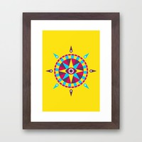 Compass Framed Art Print by Takeshi | Society6