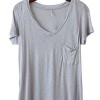 Kicking Around Shabby Tee, Periwinkle Gray