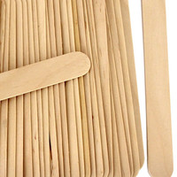 "100 Natural Jumbo Size 6"", Wood Craft Sticks, Wedding Fan Sticks"