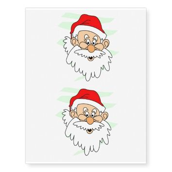 Santa Claus Temporary Tattoos