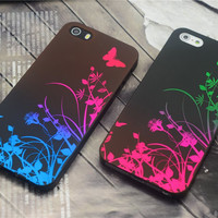 New Classic Butterfly Gradient Hard Plastic Back Cover Case for iphone 4 & 4S