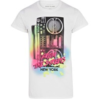 White New York streets print t-shirt - print t-shirts - t-shirts / tanks - men
