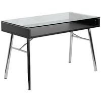 Flash Furniture Brettford Desk with Tempered Glass Top [NAN-JN-2966-GG]