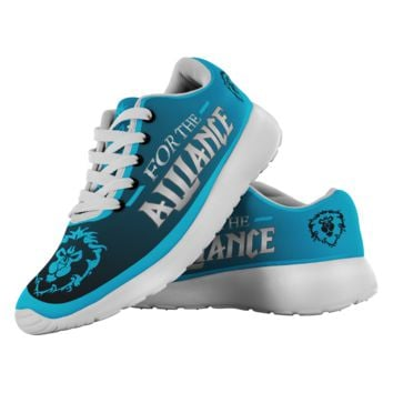 """World of Warcraft """"For the Alliance"""" Running Shoes"""
