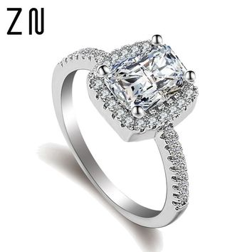 ZN Fashion Rings Show Elegant Temperament Jewelry Womens Girls White Silver  Filled Wedding Ring 8a611c700