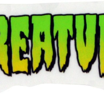 Creature Logo Mini Skate Decal 1X2""
