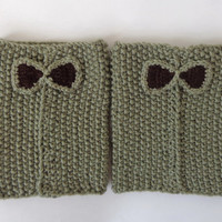 Knitted Boot Cuffs With Bow Boot Socks Boot Topper Leg