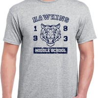 540 Hawkins Middle School mens T-shirt funny costume stranger tv show things new
